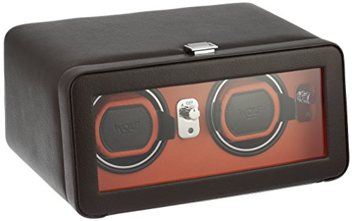 - Wolf Designs 452606 Leather Synthetic Watch Winder