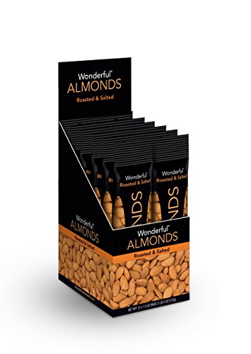Wonderful Almonds, Roasted and Salted, 1.5 Ounce Bags (Pack of 12)