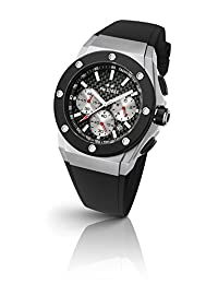 TW Steel Men's 'CEO Tech' Quartz Stainless Steel and Silicone Dress Watch, Color:Black (Model: CE4020)