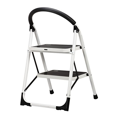 Ollieroo Ladder En131 Steel Folding 2 Step Stool With