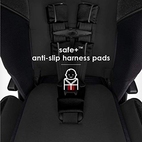 41hqs9VL0JL - Diono Radian 3QX 4-in-1 Rear & Forward Facing Convertible Car Seat | Safe+ Engineering 3 Stage Infant Protection, 10 Years 1 Car Seat, Ultimate Protection | Slim Design - Fits 3 Across, Jet Black