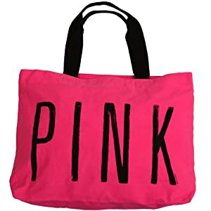 Amazon.com: Victoria's Secret PINK LOVE PINK Zipper Weekender ...