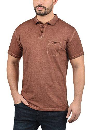 Manga 100 Termann solid Cuello Polo Camiseta Algodón Hombre Para De 6792 Con Brown Fox Corta FvIqIdr