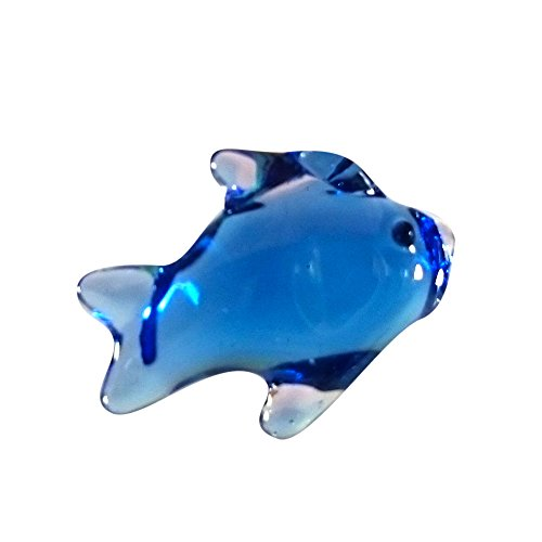Sansukjai Fish Pendant Necklace Glass Animals Figurines Hand Blown Glass Art Jewelry Blown Glass - Me Near Number Macys