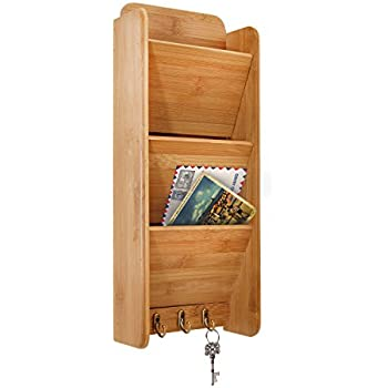 Door Entry Organizer With Mail Sorter In Mahogany Durable Modeling
