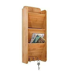 Vanderbilt home bamboo letter rack and key - Letter rack and key holder ...