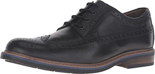 Black Brogue (Bostonian Men's Melshire Wing Black Leather)