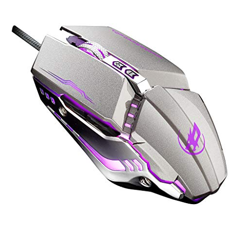 GXOK Wired USB Gaming Mouse Ergonomic Design Programmable 6Keys 3200DPI Mice with LED for PC Laptop ()