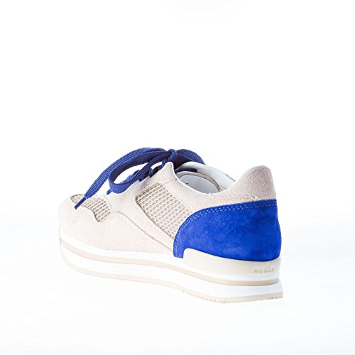 H222 Tessuto Pannelli Assetto Con Da Maglia Hogan Blu Scarpe Donna In Beige Di Scamosciata Beige Sneaker tRqx4C