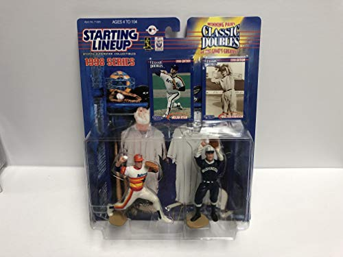 1998 Winning Pairs Games Greatest Nolan Ryan & Walter Johnson MLB Baseball Action Figures with Collectible Trading Cards