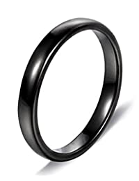 2mm Tungsten Carbide Ring High Polished Domed Wedding Band