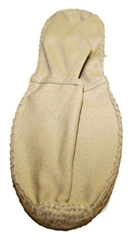 Pumps Frau aus Leinen Genäht Hand Sohle kautschuk und seil geflochten Mode - Beige, 41