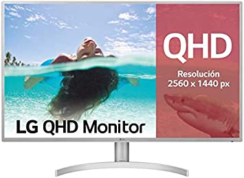 LG 32QK500-W, Monitor QHD de 80 cm (31.5
