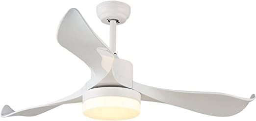 DYW-Ceiling fan light Ventilador de Techo LED para Interior con Montaje Empotrado, luz de Techo, Cambia de Color a la Moda, para salón, Restaurante, cafetería, Ventilador con Mando a Distancia: Amazon.es: Hogar