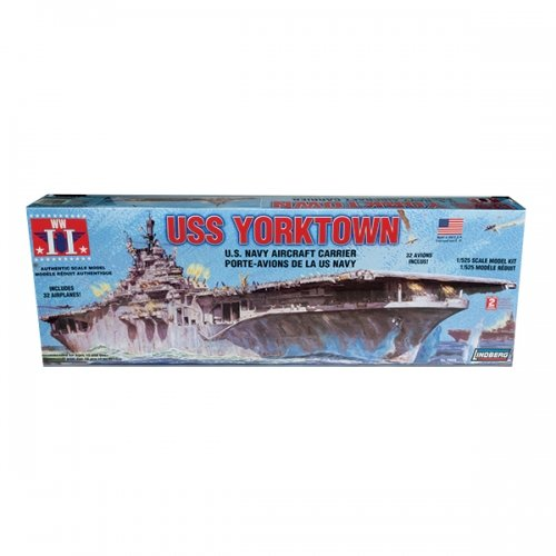 Lindberg Models USS Yorktown U.S. Navy Aircraft Carrier