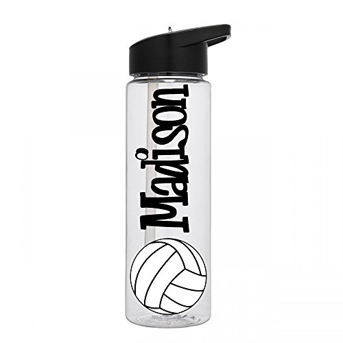 Personalized Sport water bottle Volleyball design with name BPA Free 24 oz, clear or colored (Personalized Items)
