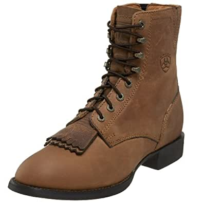 Ariat Women's Heritage Lacer II Western Cowboy Boot, Distressed Brown, 5.5 M US