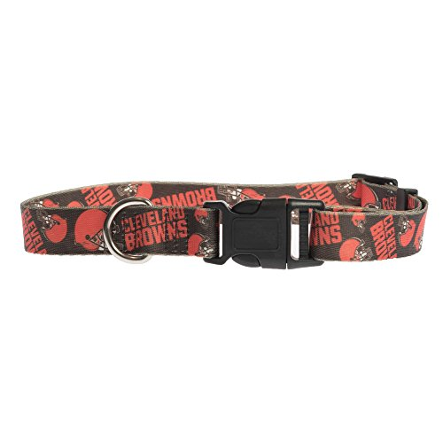 Cleveland Dog Browns Collar (Littlearth NFL Cleveland Browns Team Pet Collar, Medium)