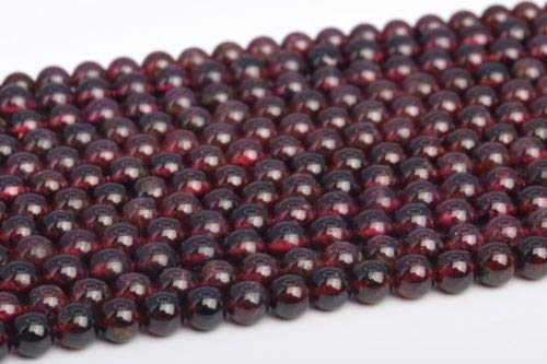 4-5mm Genuine Natural Garnet Brazil Grade Round Gemstone Loose Beads 15.5'' Crafting Key Chain Bracelet Necklace Jewelry Accessories Pendants