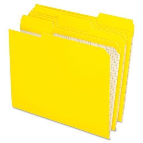 Pendaflex Reinforced-Top File Folder,1/3 AST Tab Cut,100/BX,Yellow (R152 1/3 YEL) ()