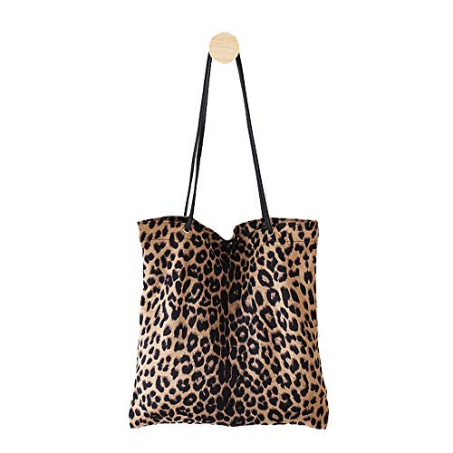 - Women's Leopard Tote Casual Travel Shopping Shoulder Bag Handbag College pack for Lady Girls