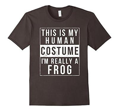 Frog Halloween Costume Shirt Funny Easy for Kids Men Women