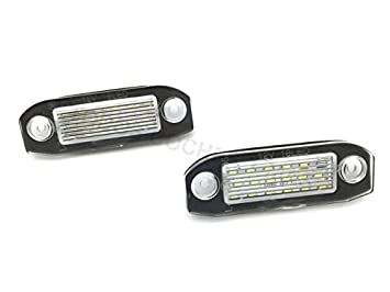 PLAFONES LED MATRICULA XC V C SERIES HOMOLGADO E4 CE LUCES LED: Amazon.es: Coche y moto