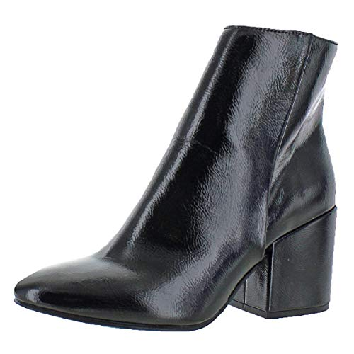 Patent Leather Platform Boots - Madden Girl Women's ARRCADE Ankle Boot, Black Patent, 8 M US