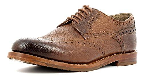 Gordon & Bros Herrenschuhe Crocket S160479 Klassischer rahmengenähter Schnürhalbschuh mit Derbyschnürung im Brogue Stil für Anzug, Business und Freizeit braun (Cognac), EU 42