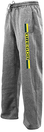 Oregon Ducks Grey Sprint Poly Fleece Synthetic Sweatpants (XXL=38-39)