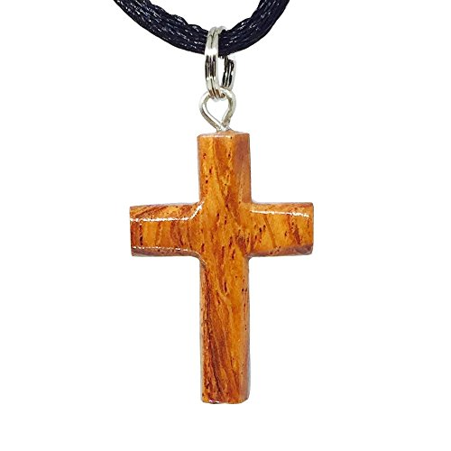 Hawaiian Koa Wood Small Cross Pendant -