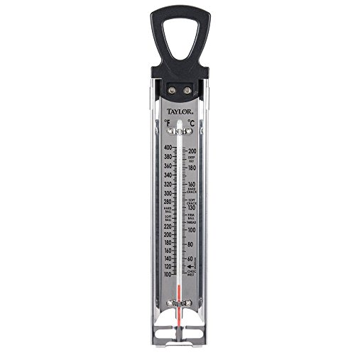 Taylor New Classic Candy Deep Fry Analog Thermometer Stainless Steel 12