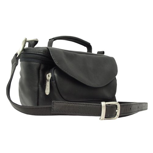 Piel Leather Camera Bag - Piel Leather Deluxe Carry-All Camera Bag, Black, One Size