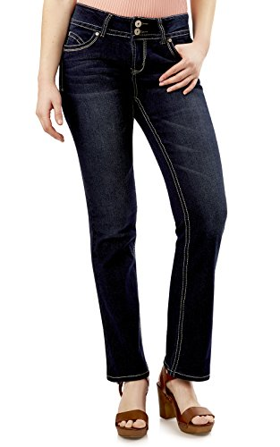 WallFlower Juniors Luscious Curvy Short Inseam Basic Bootcut Jeans in Rinse Vintage Size: 13 Short (Best Jeans For A Curvy Body)