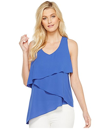 Karen Kane Women's Asymmetric Tier Tank Top Iris Shirt