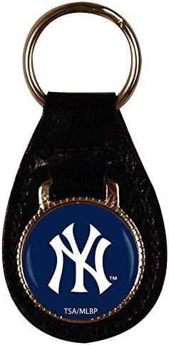 NEW YORK YANKEES Nfl Leather Key Fob Keychain-c