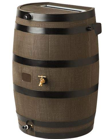 (Gardener's Supply Company Flat-Back Rain Barrel, Woodgrain)