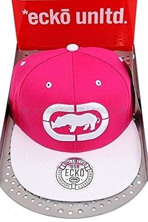 Ecko Unltd 3D Rhino Logo Visera Plana Snapback Gorra - Rosa/Blanco ...