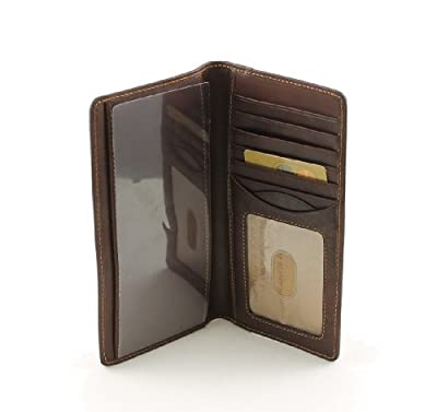 Tony Perotti Italian Leather Bifold Checkbook Pocket Wallet