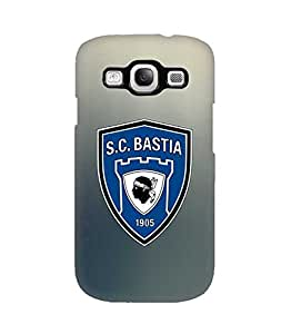 3D Cover Bastia Popular Footbal Teams for Galaxy S3 Funda Case Cover Printed Pattern Hard Back Protect Cute Design Snap on Samsung Galaxy S3