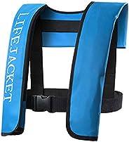 Abarich Adult Life Vest,Manual Inflatable Life Jacket Adult Life Vest Water Sports Swiming Fishing Survival Ja
