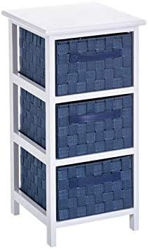 Cajonera de 3 cajones Moderna Azul de Madera para Cuarto de baño Vitta - LOLAhome