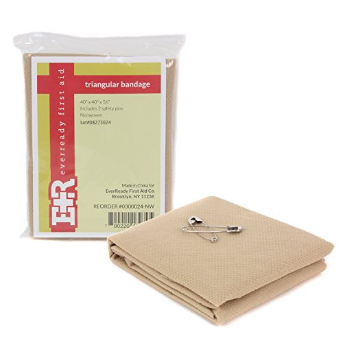 12-Piece Pack of 40x40x56 Non-Woven Cotton Skin Color Triangular Bandages