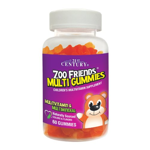 21st Century Zoo Friends Tropical Multi Gummies Supplement, 60 Count