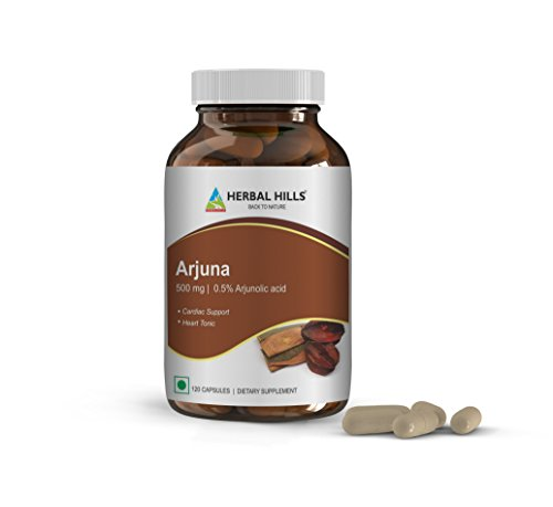 Arjuna Capsules for a Healthy Heart, Supports Blood Circulation and Promotes Well-Being During Occasional Stress. 120 Vegie Capsules