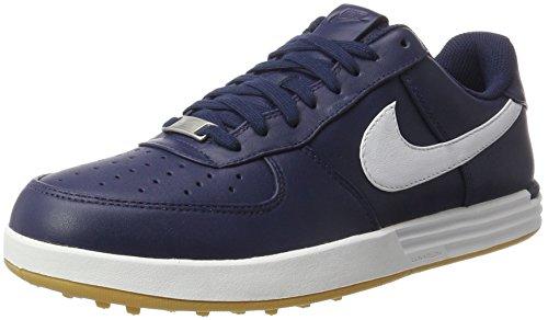 - Nike Lunar Force 1 Spikeless Golf Shoes 2017 Midnight Navy/Gum Yellow/White Medium 8