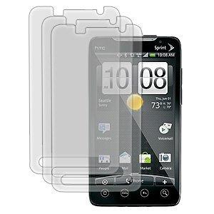 HTC Evo 4G Crystal Clear Screen Protector ( 3Packs )