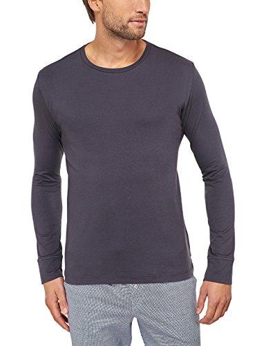 Schiesser Herren Schlafanzugoberteil Mix & Relax Shirt Langarm, Gr. X-Large (Herstellergröße: 054), Grau (anthrazit 203)