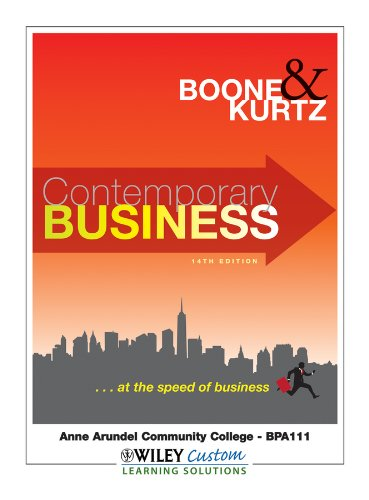 Contemporary Business 14th Edition for Anne Arundel Community College