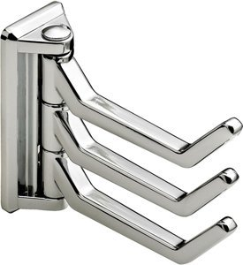 Hafele Three Prong Hook Polished Chrome